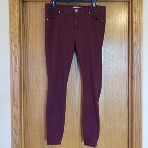 Ann Taylor Loft Merlot Leggings Pants Size 8